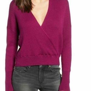 Leith Sweater Rib Wrap Sweater